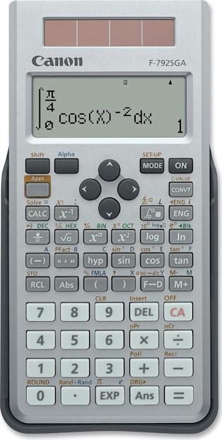 Using The Canon F 792sga Scientific Calculator Numericana