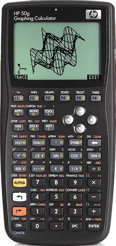 Handheld HP calculators, from the hp-35 to the hp-50g